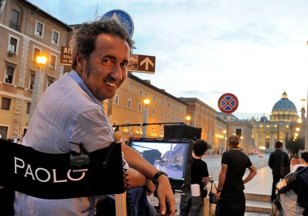 Paulo Sorrentino sur le tournage de la série The New Pope